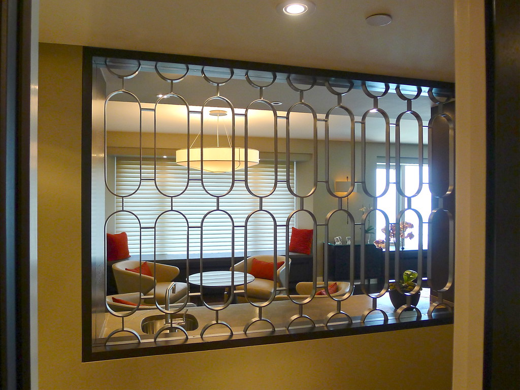 Cold rolled steel grill 5406 contemporary chicago by kramer - Grill View Thru Entry Way