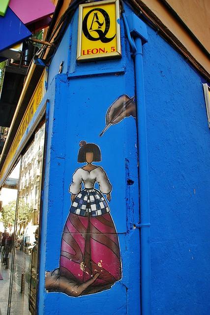 Madrid C. León 5 cv Cervantes Graffiti Pegatina 21203