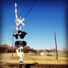| Cross Roads | #RailRoadCrossing #Railway #TrainTracks #Signs #TrafficSigns #Mesquite #Texas #Tracks #StreetSigns