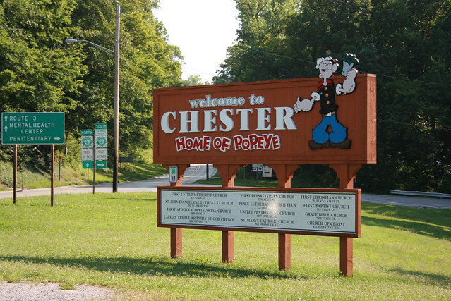 Chester, Illinois - The Home of Popeye The Sailor Man