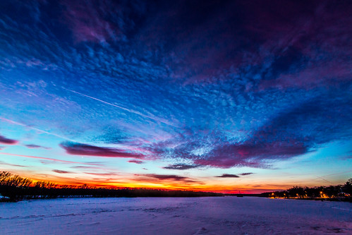 Sundown in Portage, WI by kenfagerdotcom
