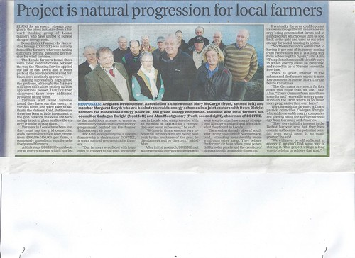 Dec 4 2013 b Ardfglass Development Association and lecale farmers celebrate new Hi-tech energy initiative by CadoganEnright