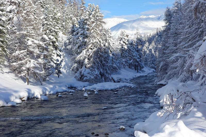 Schnee im Oberengadin