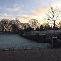 Beautiful, crisp morning in Castle Park this morning. #colchester