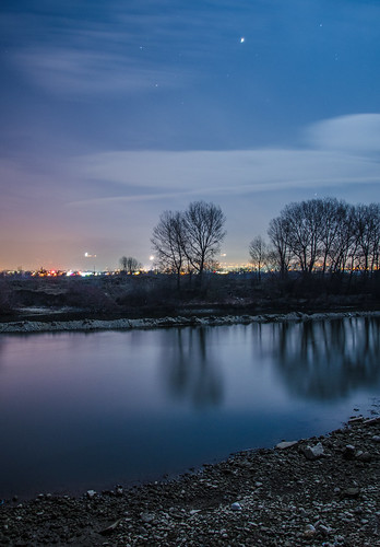 night river long exposure blagoevgrad
