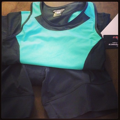Snow day surprise! Got some great new tri gear from @moomotionsports