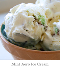 Mint Aero Ice Cream