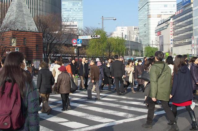 東京路地裏散歩 交差点 2014年2月2日
