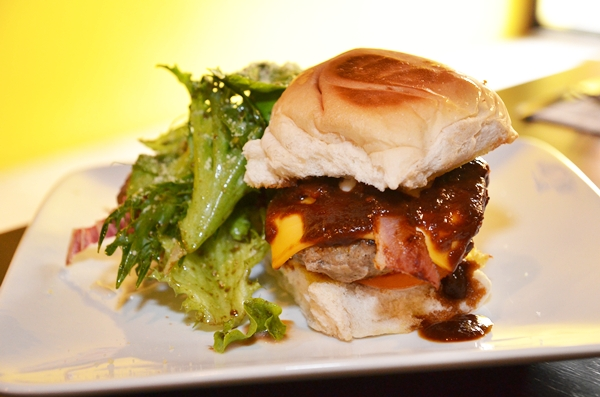 White Coffee BBQ Beef Burger