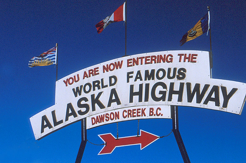 Dawson Creek, Alaska Highway 97, Northern British Columbia, Canada