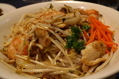 noodle soup(0.0), cellophane noodles(0.0), laksa(0.0), noodle(1.0), meal(1.0), mie goreng(1.0), bakmi(1.0), shahe fen(1.0), fried noodles(1.0), lo mein(1.0), japchae(1.0), pancit(1.0), thai food(1.0), seafood(1.0), hokkien mee(1.0), char kway teow(1.0), green papaya salad(1.0), food(1.0), dish(1.0), yakisoba(1.0), chinese noodles(1.0), yaki udon(1.0), pad thai(1.0), cuisine(1.0), chow mein(1.0),