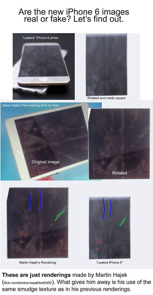 Imágenes falsas del iPhone 6 utilizando el render de Martin Hajek