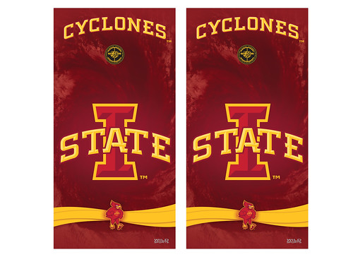 Iowa State Cornhole Game Decal Set
