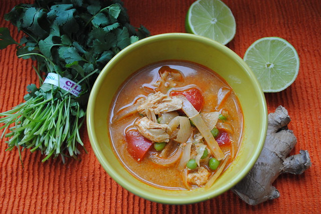 {Slow Cooker} Thai Coconut Chicken Soup