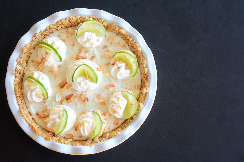 Key Lime Pie with Macadamia Crust