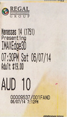 Edge of Tomorrow ticketstub