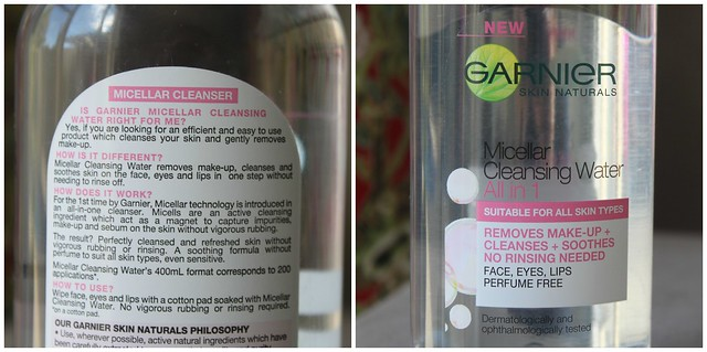 australian beauty review blog blogger aussie ausbeautyreview garnier micellar cleansing water makeup remover sooth all in one multi purpose product drugstore perfume free naturals face bblogger gentle
