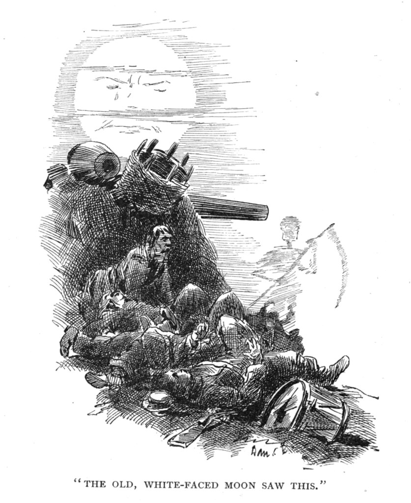 image of moon and war