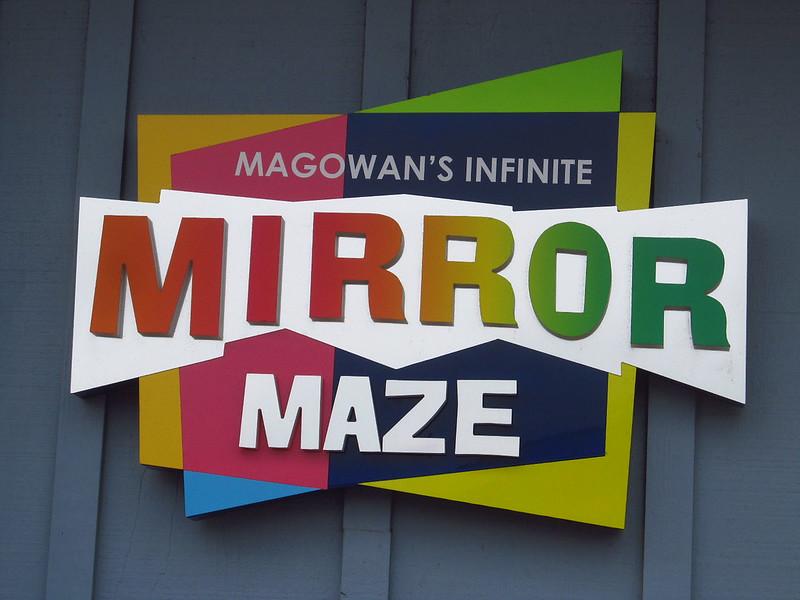Magowan's Infinte Mirror Maze sign