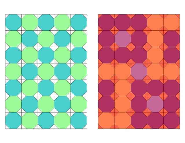 Snowball quilt two-toned palette