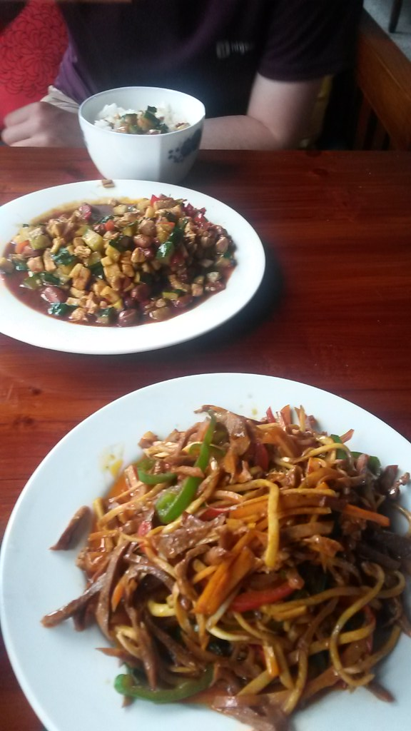 Kung Po Chicken & Shredded Pork with Hui Style Vegetables