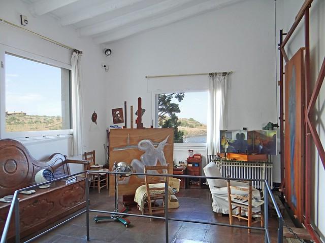 Дом Сальвадора Дали в Порт-Льигате. L'atelier de Salvador Dali (Portlligat, Espagne)