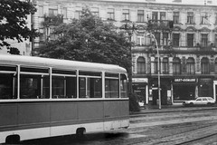 Berlin. Tram at Hackescher Markt, 1993