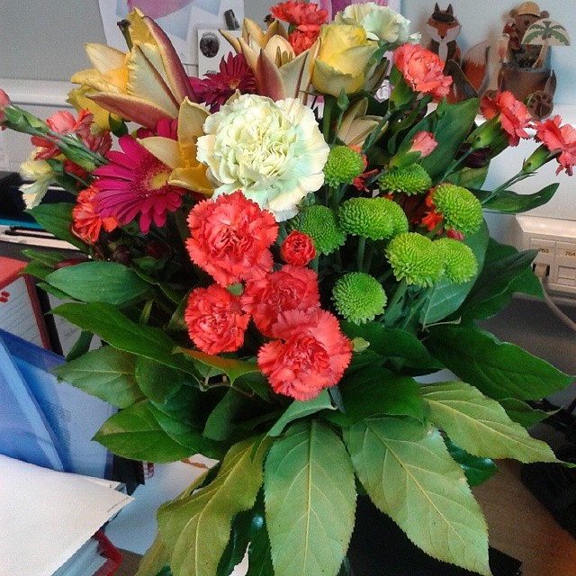 Beautiful Almost-birthday Flowers Delivered To My Work