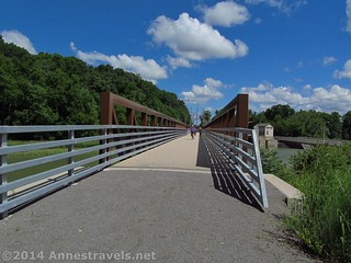 The bridge over the Genesee River in Mount Morris, New York, Genesee Valley Greenway