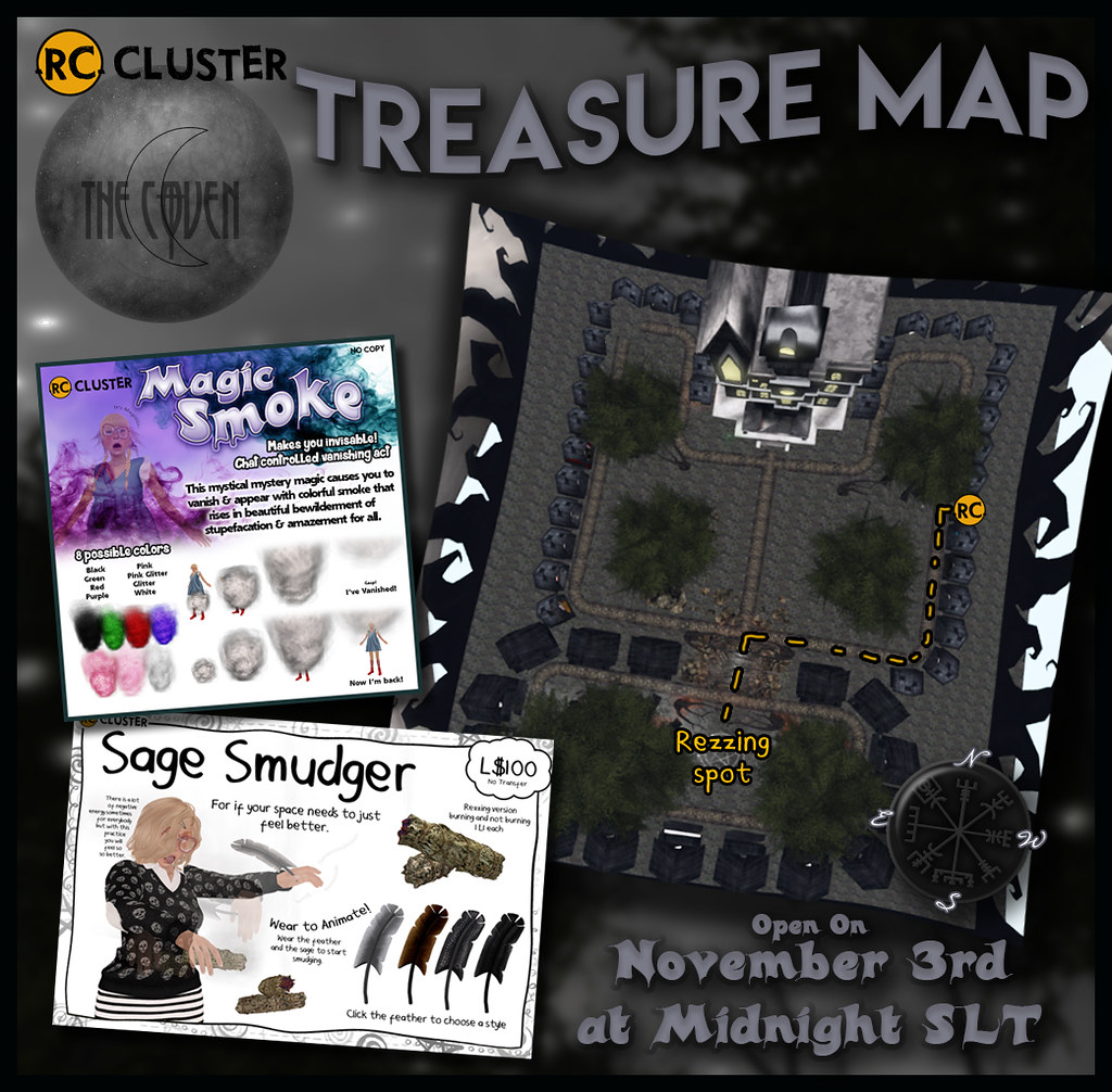 Treasure Map for The Coven! - SecondLifeHub.com