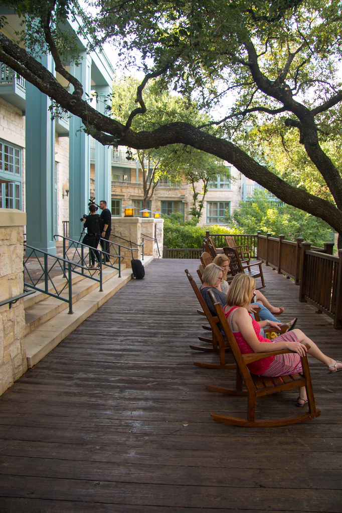 Outdoor areas at Hyatt Hill Country Resort and Spa