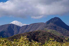 富士山と金時山・・・天候が回復してきた