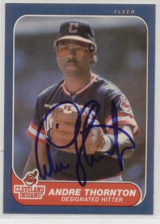 Andre Thornton Signed 1986 Fleer