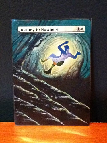 Journey to Nowhere Altered Art by Jacob Honor, Gold Eagle Collection