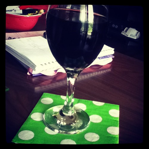 Wine with our anniversary dinner <3