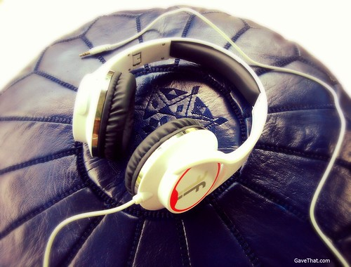 Flips Headphones in White Racing Red on Gift Style Blog Gave That