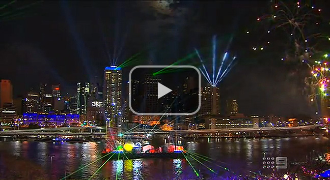 Channel 9's coverage of the 2012 Sunsuper Brisbane Riverfire.