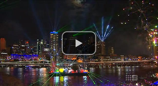 Channel 9's coverage of the 2012 Sunsuper Brisbane Riverfire.