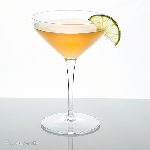 Royal Bermuda Yacht Club Cocktail with lime garnish