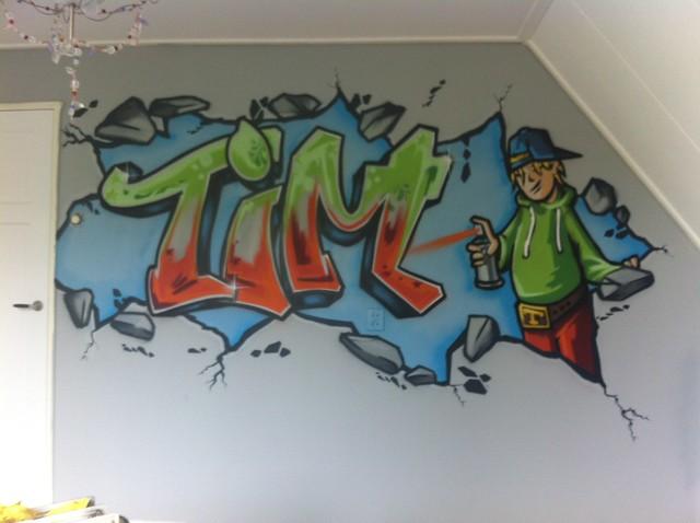 Graffiti Op Je Slaapkamer Muur : Graffiti muurschildering tim Flickr ...