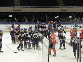 NY Isles Orange v Blue '13: Sticks in the Air