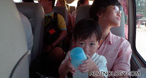 Long bus journey from Krabi to Ko Lanta