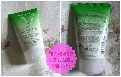 Vichy Normaderm 3-in-1 Cleanser, Scrub & Mask Review
