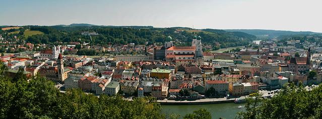 Passau Panorama from Ludwigsteig