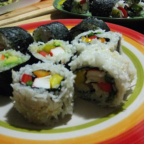 I wanted sushi so i made sushi well not real sushi for Is sushi raw fish