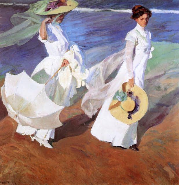 Paseo a orillas del mar. Joaquin Sorolla. 1909