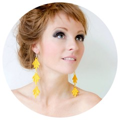 Yellow Lace Earrings
