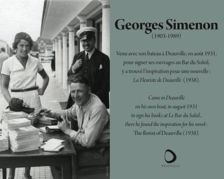 Deauville: plaque Simenon