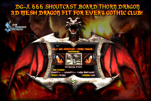 DG-X Gothic Shoutcast Board -Thorn Dragon-