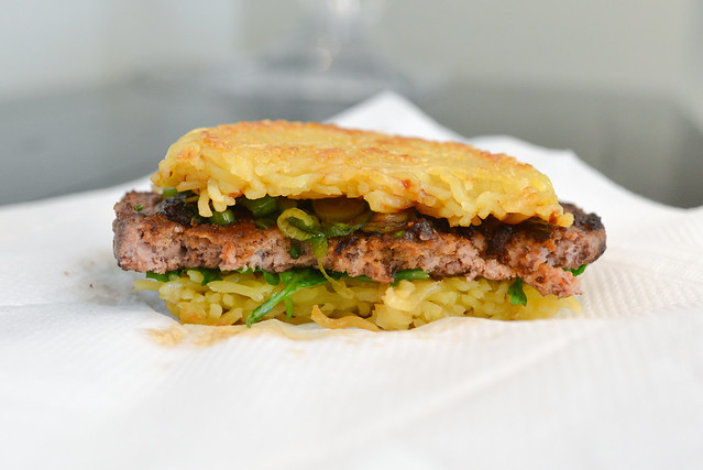 ramen burger cross section